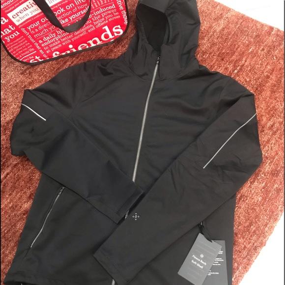 Lululemon Fleece Back Soft Shell Jacket Black NWT